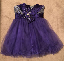 Prom Formal Dress Short Purple Silver Sequins Size L Marching Purse
