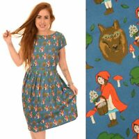 Run and Fly Red Riding Hood Print Dress Quirky Fairytale 8 10 12 14 16 18 20