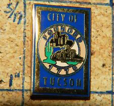 "CITY OF TUCSON FOUNDED 1776 SOUVENIR GOLD TONE 1"" METAL LAPEL PIN"