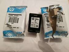 Genuine HP 301xl Black Original Ink Cartridge(CH563EE)2 Packs(1 Opened New)