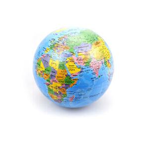 6″ Spinning World Map Desk Ornament Rotating Earth Globe