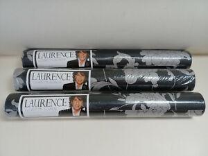 3 x Laurence Llewelyn-Bowen 19728 Wallpaper - silk silver effect - same batch