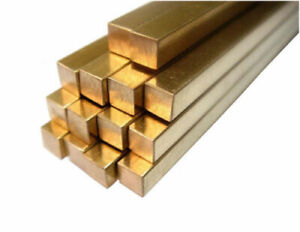 H59 Brass Square Rod Stick Solid Bar Cutting Tool Metal Cube 5*5-40*40mm AU