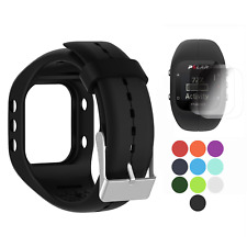 TUSITA Polar A300 Band With Screen Protector, Replacement Silicone Strap for