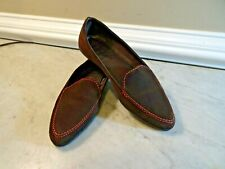 The Flexx Womens Size US 8.5 EU 40 Brown Suede Slip On Loafers Shoes