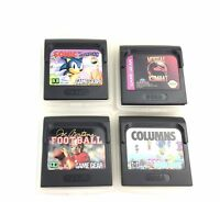 Sega Game Gear Games Lot of 4 Sonic, Mortal Combat, Joe Montana, Columns Games