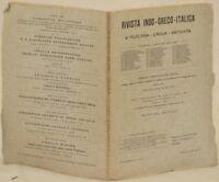 RIVISTA INDO GRECA ITALICA FRANCESCO RIBEZZO 1932 ALBANIA PULENA CAERE ETRUSCHI