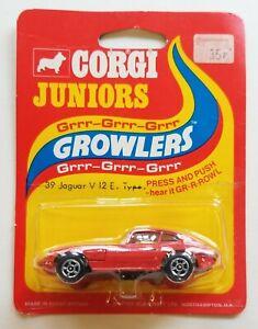 VINTAGE CORGI JUNIORS GROWLERS 39 JAGUAR V 12 E CAR NMIB BLISTER PACK