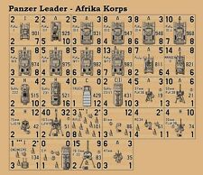 Avalon Hill's Panzer Leader Afrika Korps PV Variant Counters – Die-Cut