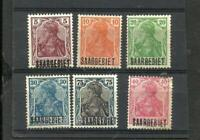 SAAR, ISSUE 1920, 5 DIFFERENT STAMPS, MNH W/ERRORS, VF
