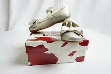 Venettini Imported Shoes for Girls Color Silver Metallic /White - Size 8 NEW