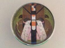 "Charley Harper Bulldog Puppy Dog Sewing Button 1"" Mid Century Mod Charles AK8"