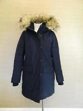JCrew $450 Nordic Fur Parka Winter Coat Navy S hooded e3977 blue small outerwear