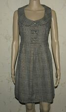 Superb Grey ATMOSPHERE Fitted Pleated Sleeveless Casual Tunic Dress Top 14 /42