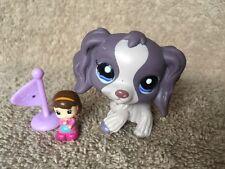 Littlest Pet Shop LPS Purple COCKER SPANIEL #1209 Blue DOT Eyes Ear
