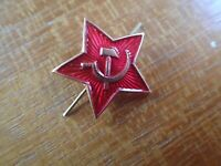 Russian USSR Soviet Red Army Small Star Hat Pin Badge Kokarda