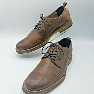 B. Republic Ortholite Men's 8 M Oxford Brown Leather Shoes. Italian Leather.
