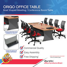 Meeting Office Table Boat Shaped Boardroom Conference Tables Beech & Ironstone