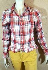 VILA CLOTHES Taille S - 36 Superbe chemise manches longues carreaux rouges femme