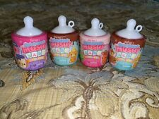 NEW Lot 4 SMOOSHY MUSHY BABY BESTIES Series 1 Mini Bottle Baby Pets