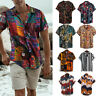 Summer Men's Hawaiian Floral T Shirt Short Sleeve Casual Beach Party Tops Blouse