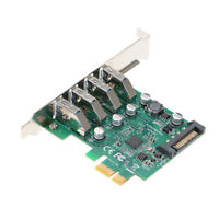 PCI-E to USB3.0 Expansion Card PCI Express Adapter with Low Profile Bracket O7K3