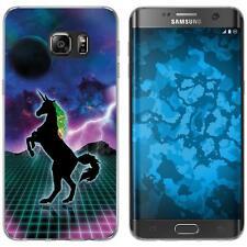 Case für Samsung Galaxy S7 Edge Silikon-Hülle Retro Wave Einhorn M2 Case