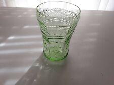 Vintage Green Patrician Depression Glass 9 Oz. Tumbler