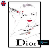 Lipstick Fashion Lady Print A4 A3 Wall Art Decor Salon Beauty Home 1424