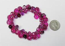 White House Black Market Berry Beaded Cluster Stretch Bracelet