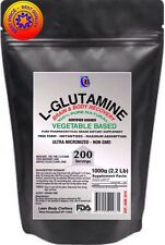 1000g (2.2 Lb) 200 SERVINGS L-GLUTAMINE 100% PURE VEGETABLE BASED PREMIUM POWDER