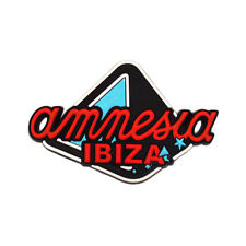 Official Amnesia IBIZA Fridge Magnet Pyramid Logo PVC Rubber Red Yellow Red/turquoise One Size