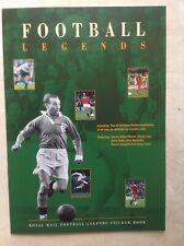 More details for 25 x royal mail memorabilia football legends sticker album book & stickers