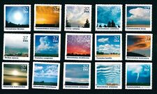 US Scott # 3878 Cloudscapes Mint Set of 15 Singles issued in 2004