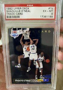 1992-93 Upper Deck Shaquille O'neal Trade Card ROOKIE #1B - PSA 6