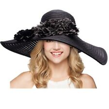 18cm Wide Brim Ribbon Mesh Womens Kentucky Derby Ascot Church Wedding Event Hat