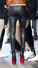 "Joseph Real Leather Leggings Uk 8 Skinny Trousers Black Rrp £795 27"" Leg"