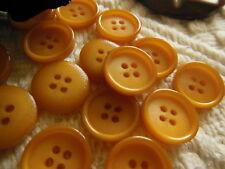 lot 27 Boutons vintage marron ocre petits 1,3/1,4 cm ref 1738