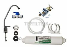 Under-sink Drinking Water Tap Filter System Kit including Faucet & Accessories
