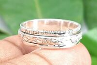 Spinner Anxiety Ring 925 Sterling Silver Handmade Statement Jewelry - ANY SIZE
