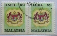 Malaysia Used Revenue Stamps - 2 pcs $2 Stamp (Old Design Small Size)