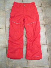Girls Columbia Pink Snowboard Pants Size large 14-16 Out Grown Lined Ski