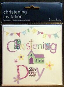 Christening Day Party Invitation Cards With Envelopes -  Simon Elvin Brand