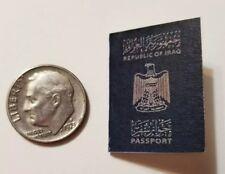 """Miniature Terrorist passport  GI Joe Action Figure 1"""" Scale Blue Iraq Spy"""