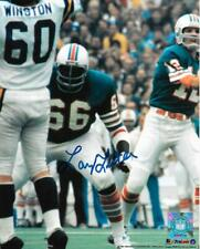LARRY LITTLE SIGNED 8x10 COLOR PHOTO~PRO FOOTBALL HALL OF FAME~HOF AUTO~DOLPHINS