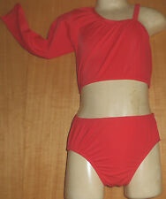 RED LYCRA/SLEEVE/LYCRA/4/5 YEAR/COSTUME/CROP TOP AND PANT