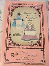 """SOUTHERN LADIES 18"""" and 24"""" cloth art doll pattern~dolls or paper towel holders"""
