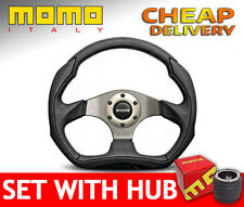 Momo Eagle 350mm Steering Wheel SET with BOSS KIT HUB to your car