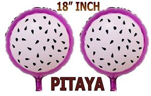 "16"" Fruit Shape PITAYA Inflatable Foil Balloons Summer Beach Birthday Party Deco"