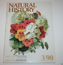 Natural History Magazine - March 1990 - Monkeys - Spiders - Weeds - Bats - Heat